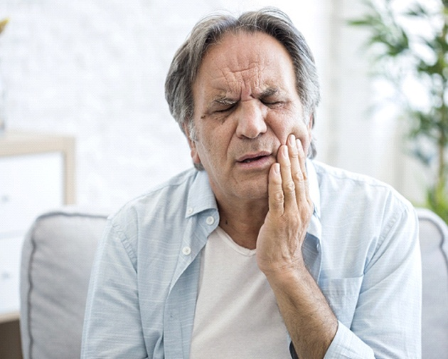 older man who didn't learn how to prevent a dental emergency in Houston, TX