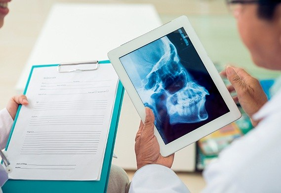 x-ray on tablet